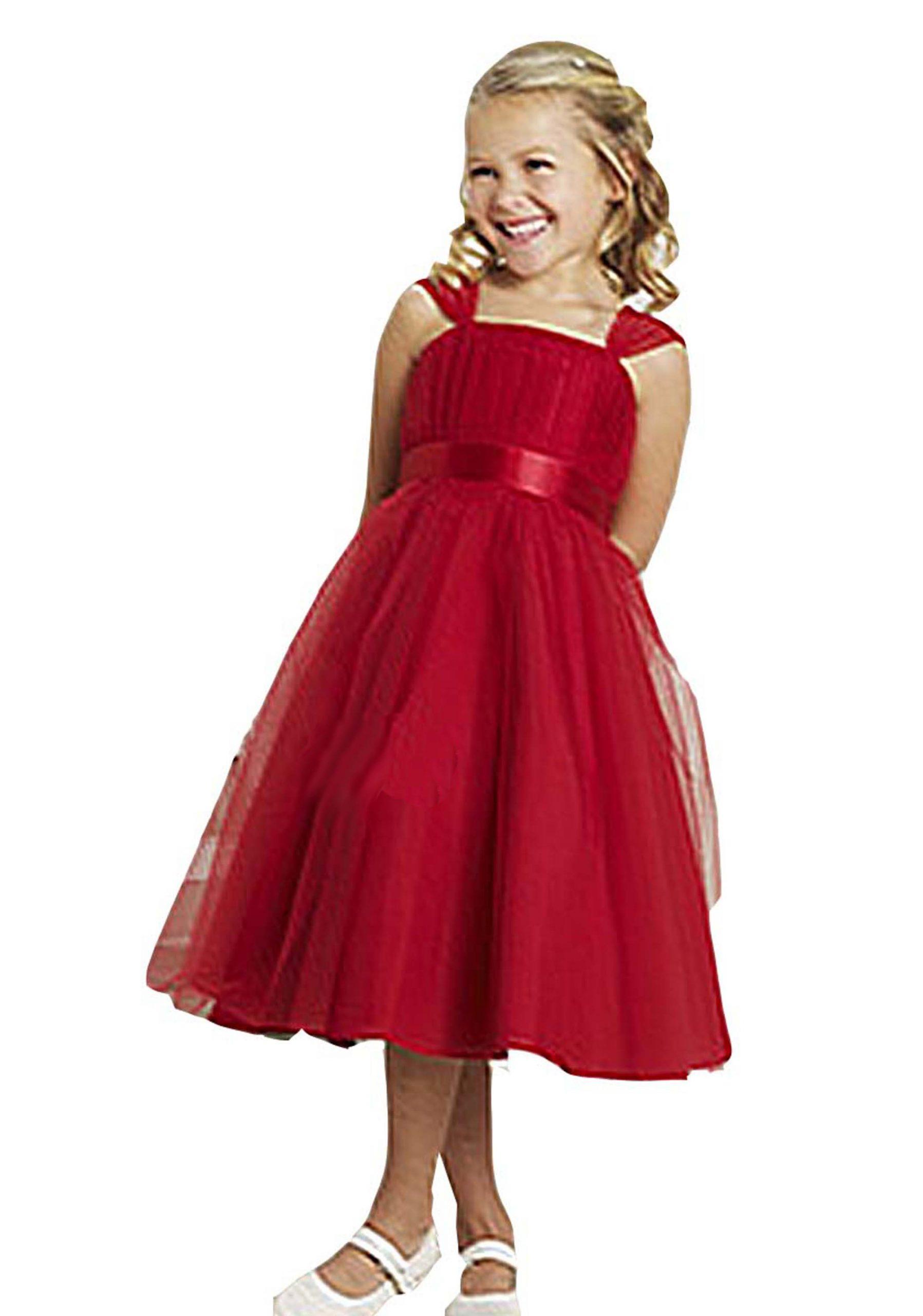 Helgasmodewelt  Blumenmädchen Kleid Festkleid Mit Tüll