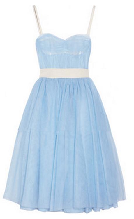 Hellblaue Kleider