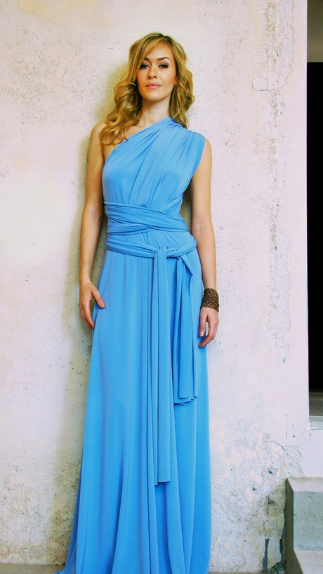 Hellblaues Abendkleid Kurz