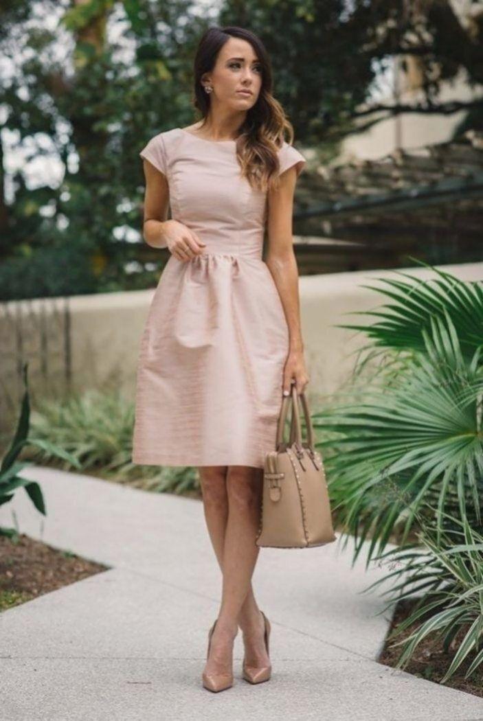 Hellrosa Kleid Mit Witem Rock Nielange Kleid Für