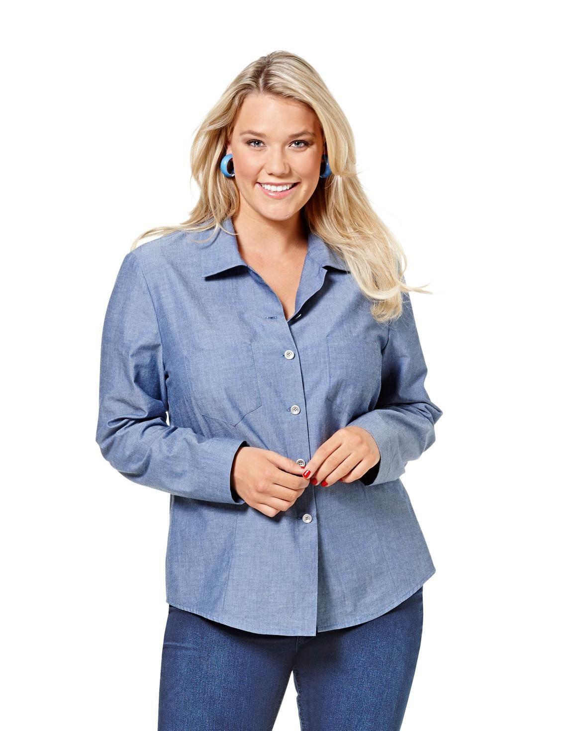 Hemdbluse  Leicht Tailliert F/S 2016 6614  Mode Zum
