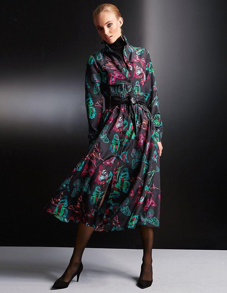Hemdblusenkleid Aus Seide  Baumwolle  Madeleine Mode