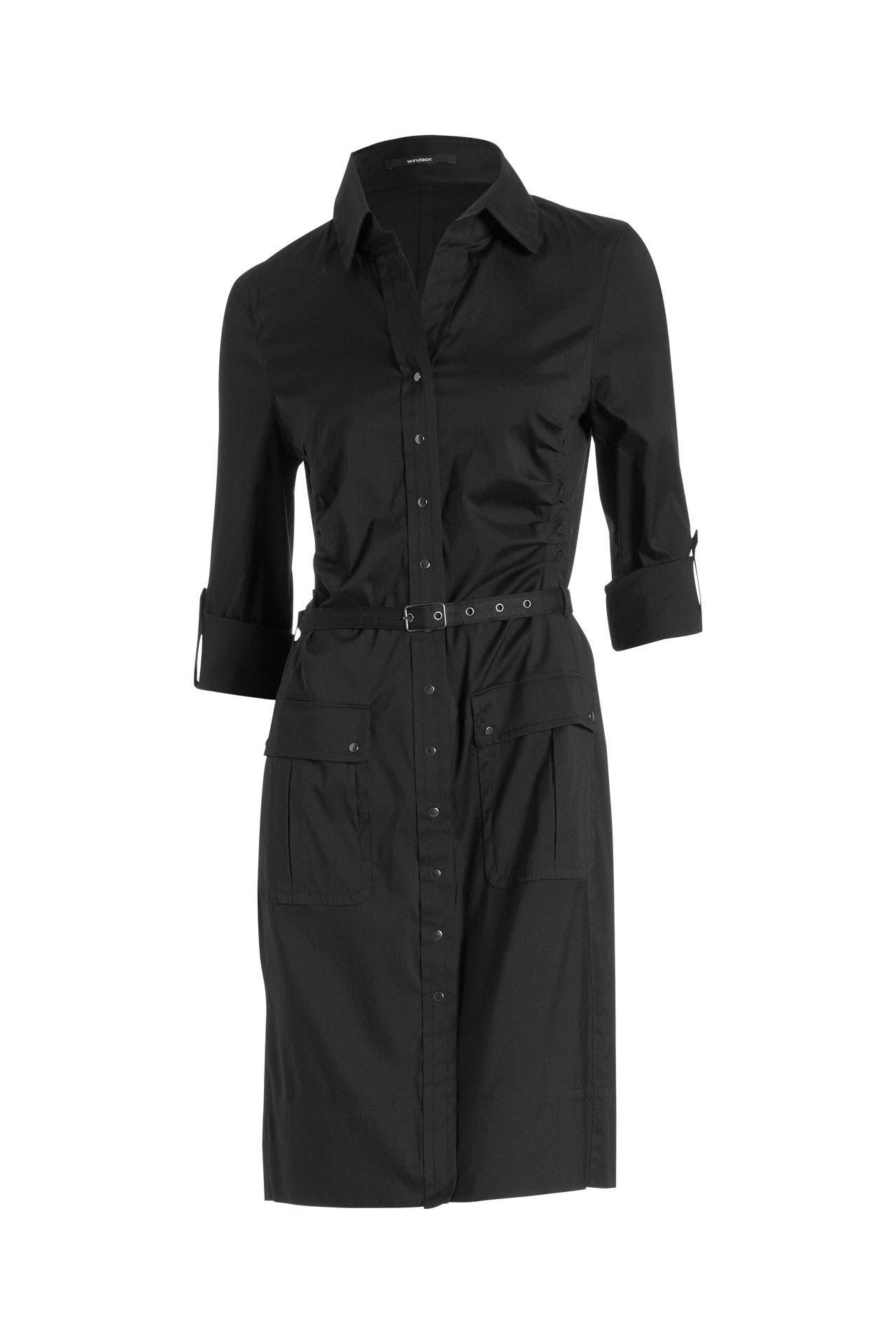 Hemdblusenkleid Schwarz  Windsor » Günstig Online Kaufen