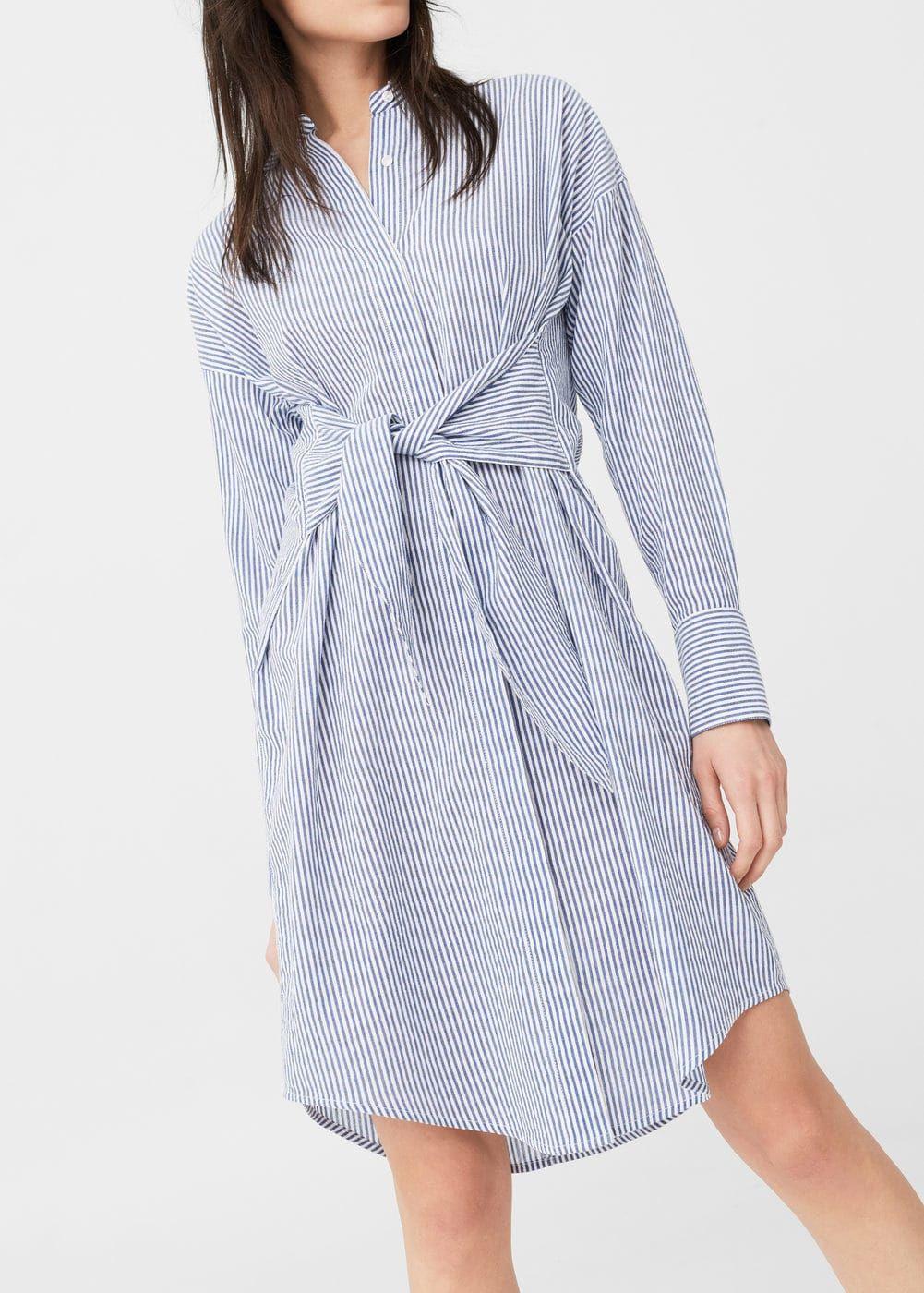 Hemdkleid Aus Baumwolle  Damen  Oberhemden Hemdkleid