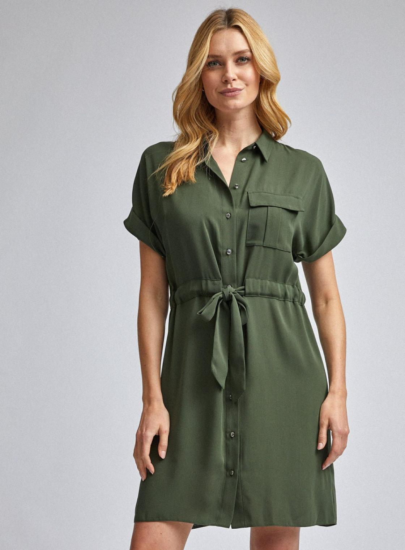 Hemdkleid  Damen Dorothy Perkins Kakifarbenes Hemdkleid