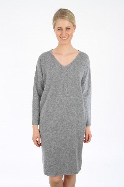 Hemisphere Cashmerekleid  Grey Mel  Kleiderschrank