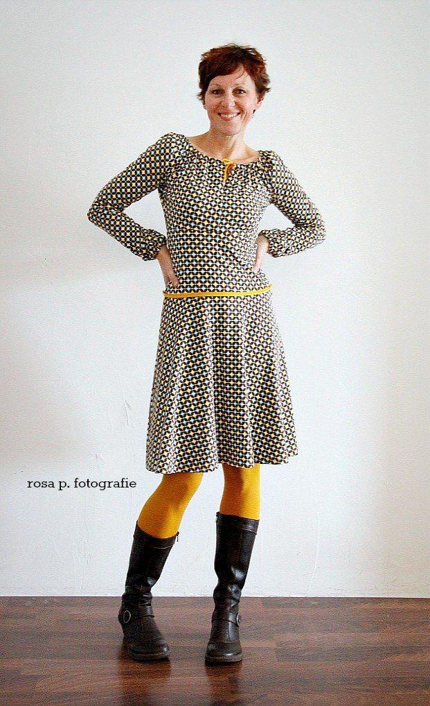 Herbst Gold In 2020  Winterkleid Damen Kleidung Kleid Nähen