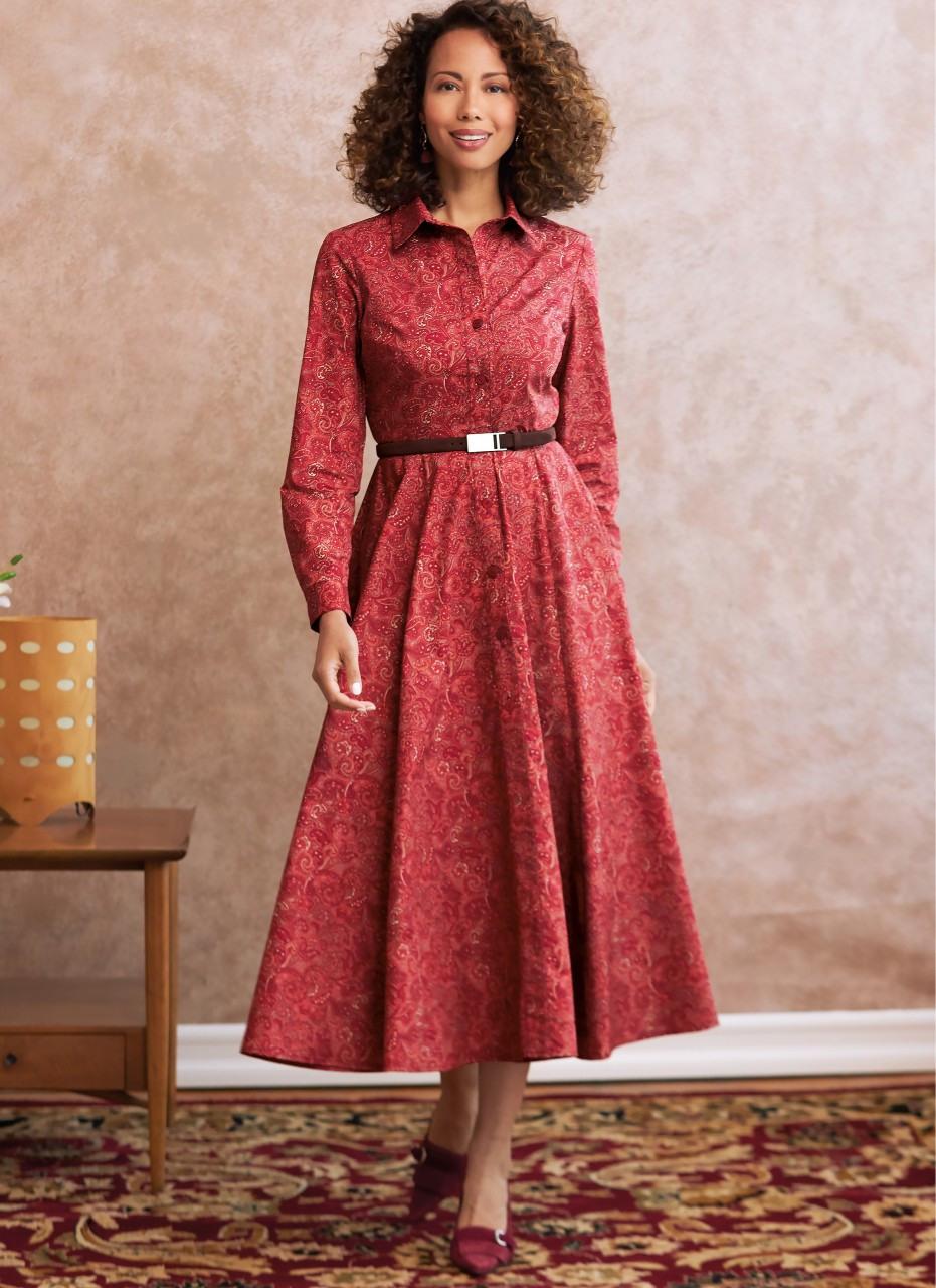 Herbst Kleid Mit Langen Armen  Kleider  Damen