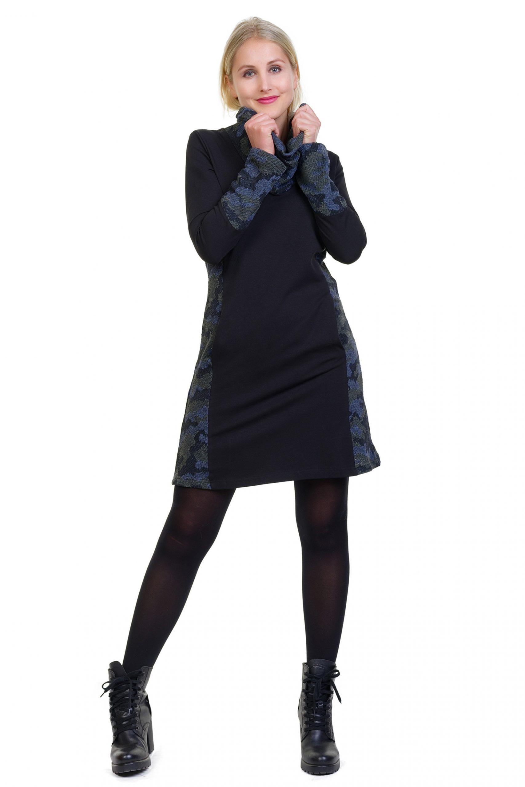 Herbstkönigin Kleid Camouflage Strick  Farbe Camouflage