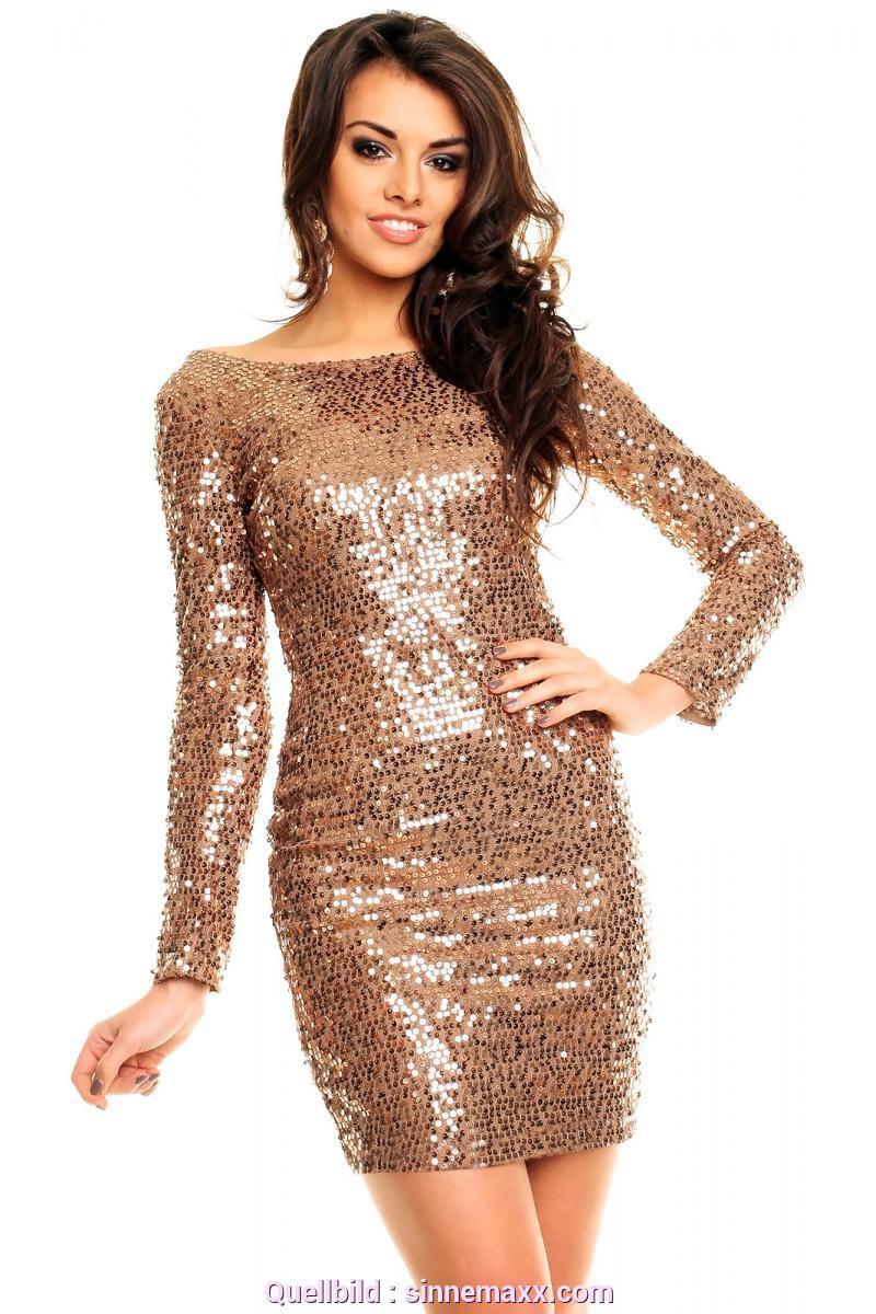 Hervorragend Pailletten Kleid Gold Schwarz Sinnemaxx