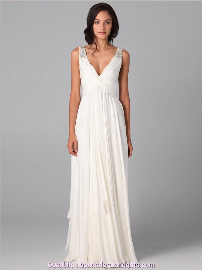 Hervorragend Schlichtes Weißes Kleid Lang Strand Weißes