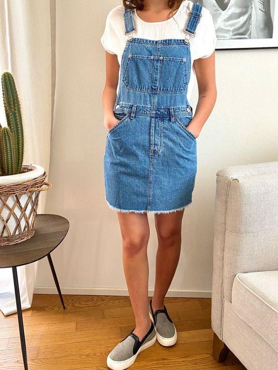 Herziges Jeans Kleid Von Asos Gr 32  Kaufen Auf Ricardo