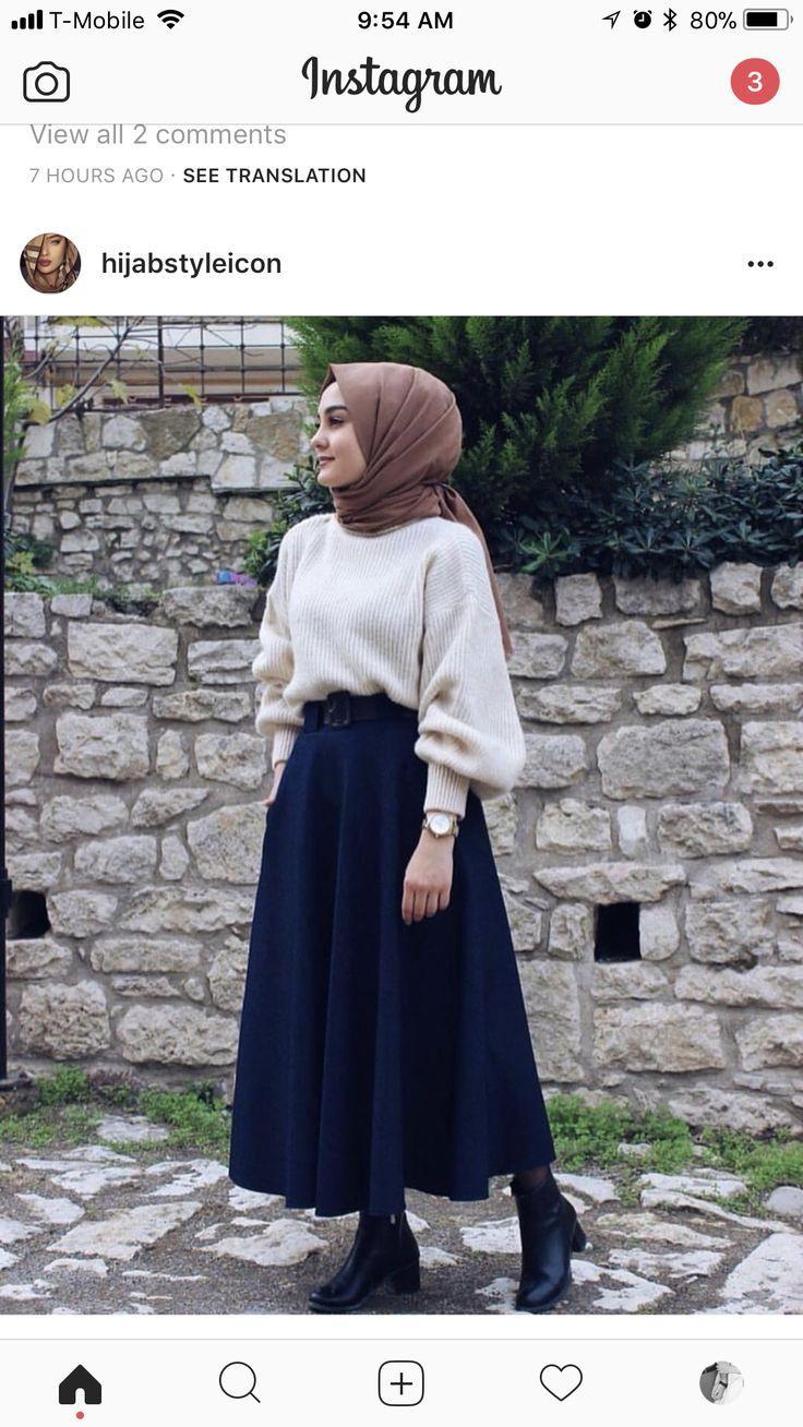 Hijab Fashion  Fashion Hijab In 2019  Hijab Stile