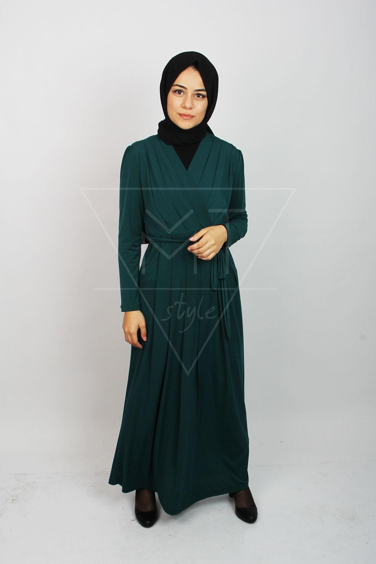 Hijab Kleid Für Den All Tag Mit Gürtel Mt0236