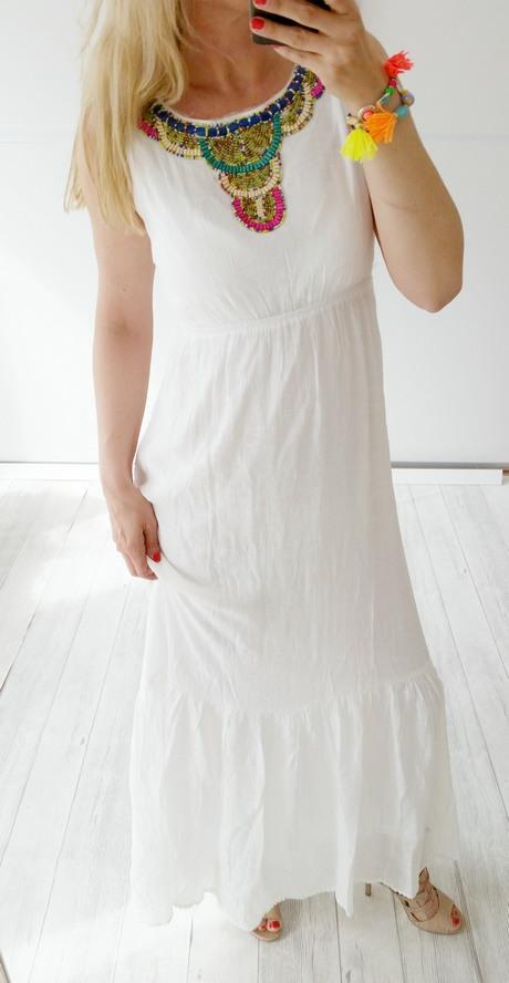 Hippie Kleid Weiß