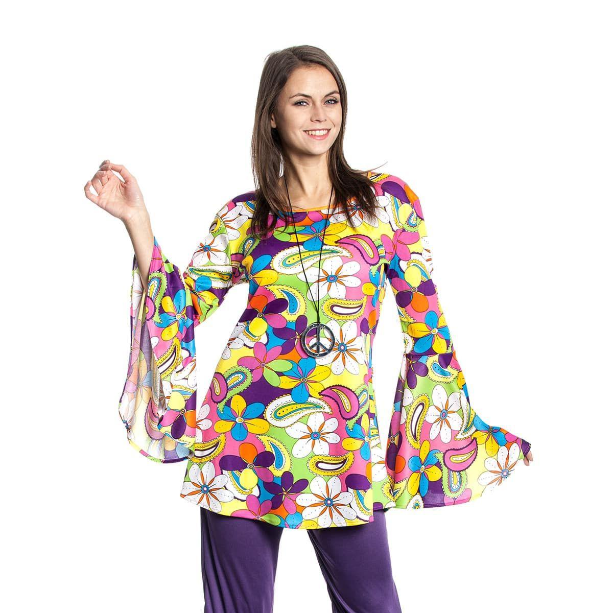 Hippie Top Damen Kostüm  Kostümplanet®