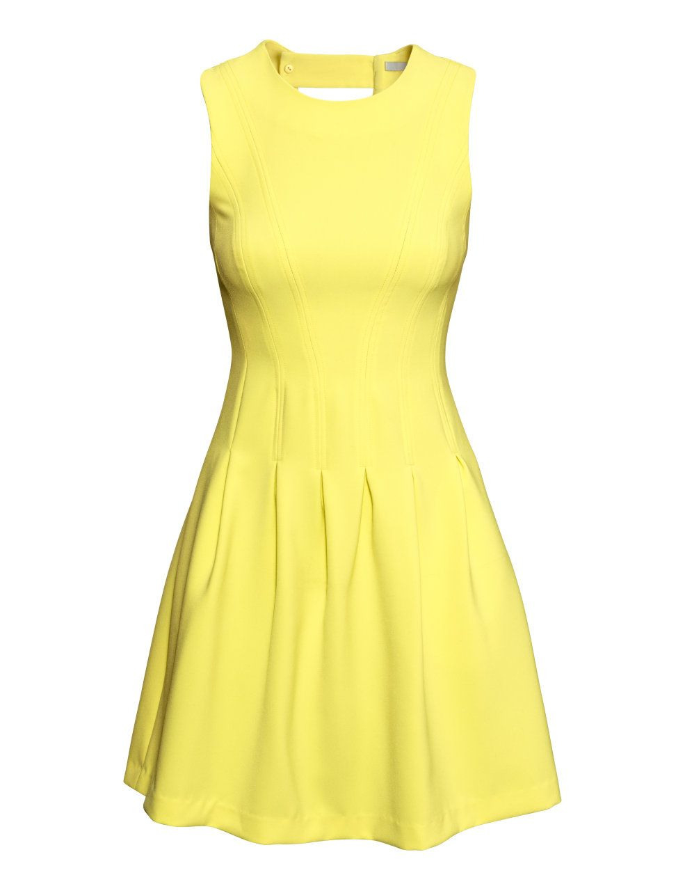 Hm Ärmelloses Kleid 3999  Mode Outfits Frauen Gelbe