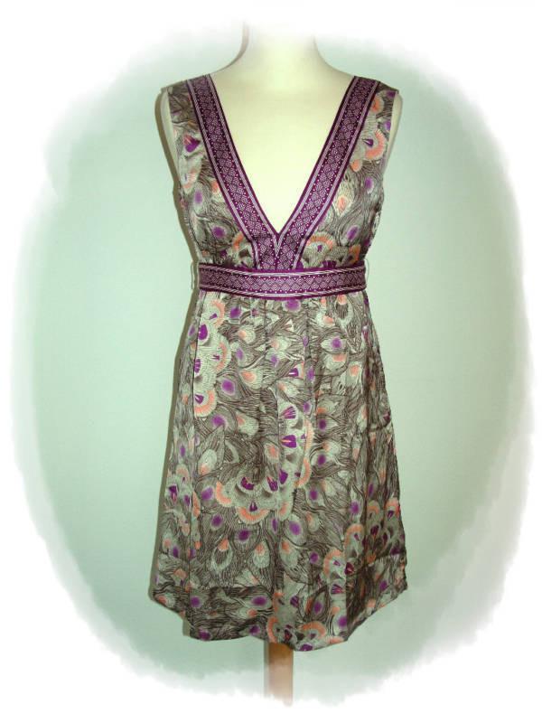 Hm Damen Satinkleid Satin Kleid Abendkleid Sommerkleid