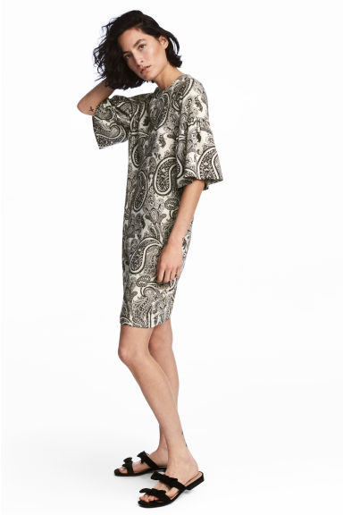 Hm  Dress With Frill Sleeves  Dresscodes