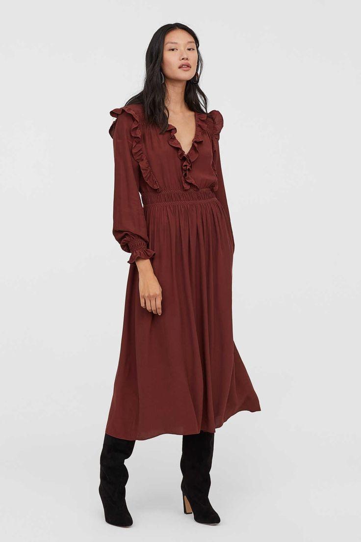 Hm Gesmoktes Kleid  Modische Kleider Kleider Für