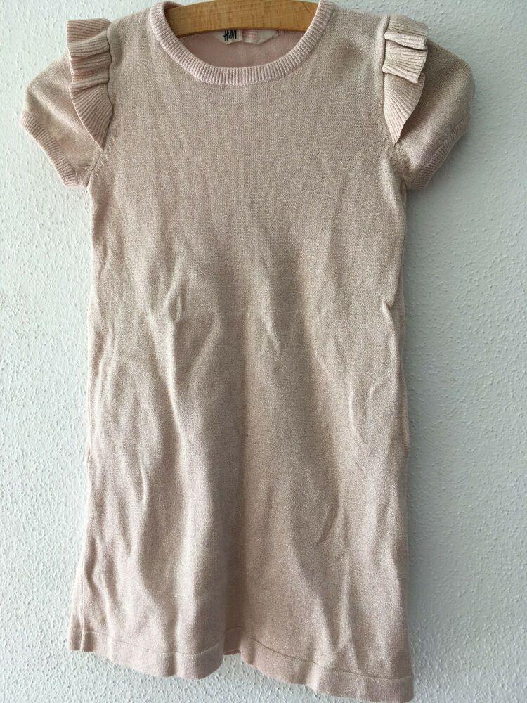 Hm Kleid Rosa Zuckersüß Glitzer Gr 134/140  Kleider