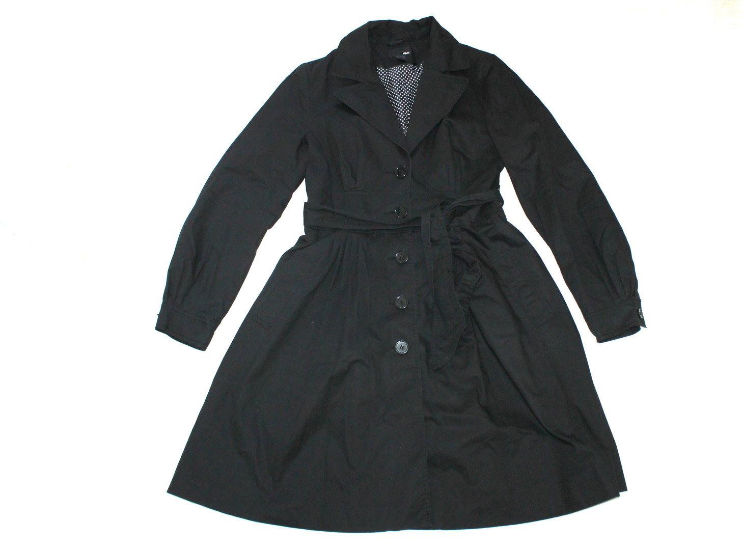 Hm Kleider Mantel Sommer Übergang Damen Schwarz Wolkengangde