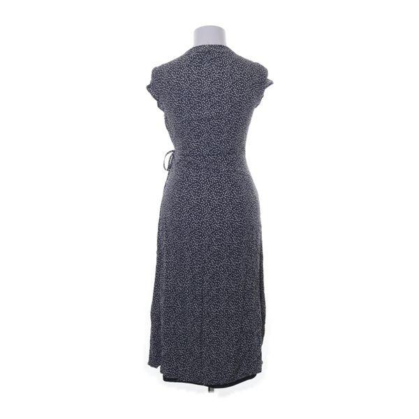 Hm Trend Wickelkleid Größe 38 Blau/Weiß Viskose  Ebay