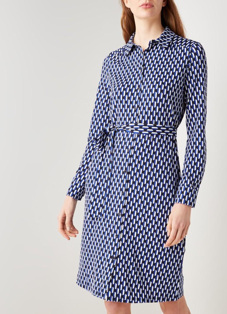 Hobbs Sandrine Midi Blusenkleid Mit Grafikdruck
