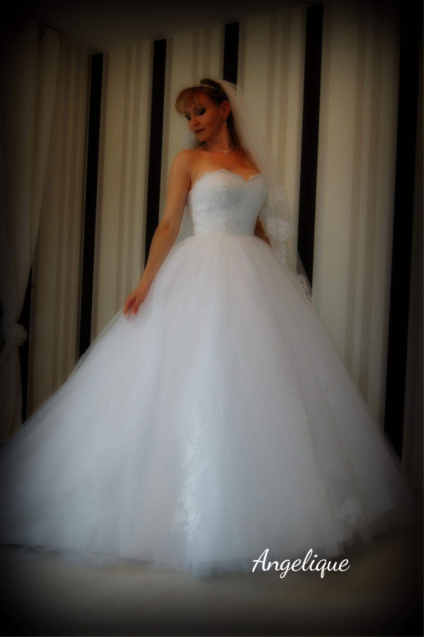 Hochwertiges Hochzeitskleid Angelique Im Prinzessinnen