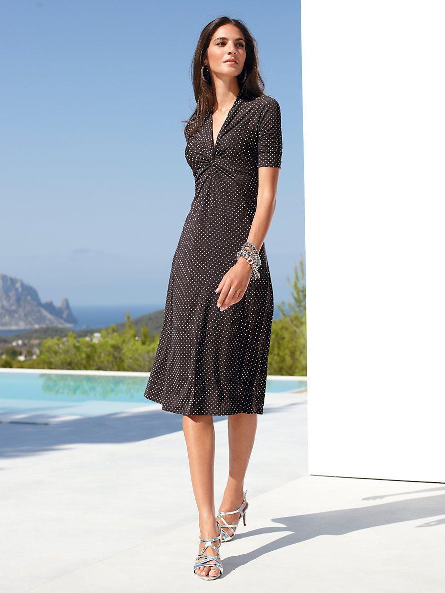 Hochwertiges Jerseykleid Mit 1/2Arm  Robe Robe En