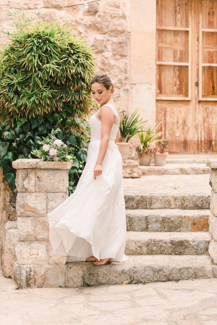 Hochzeit Auf Mallorca  Kleid Hochzeit Brautkleid