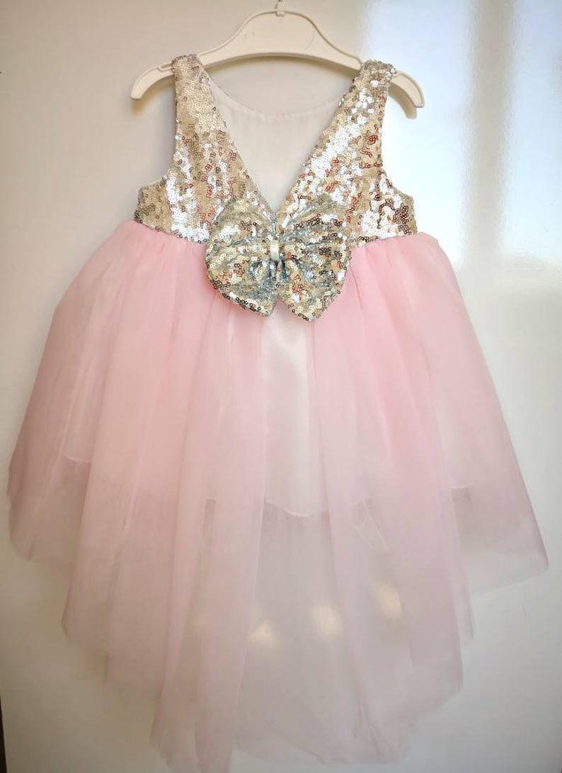 Hochzeit Baby Mädchen Kleid Taufe Rosa Kleid Blumenmädchen