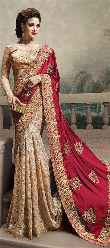 Hochzeit Bunt Bestickt Sarees Collection  Sari Hochzeit