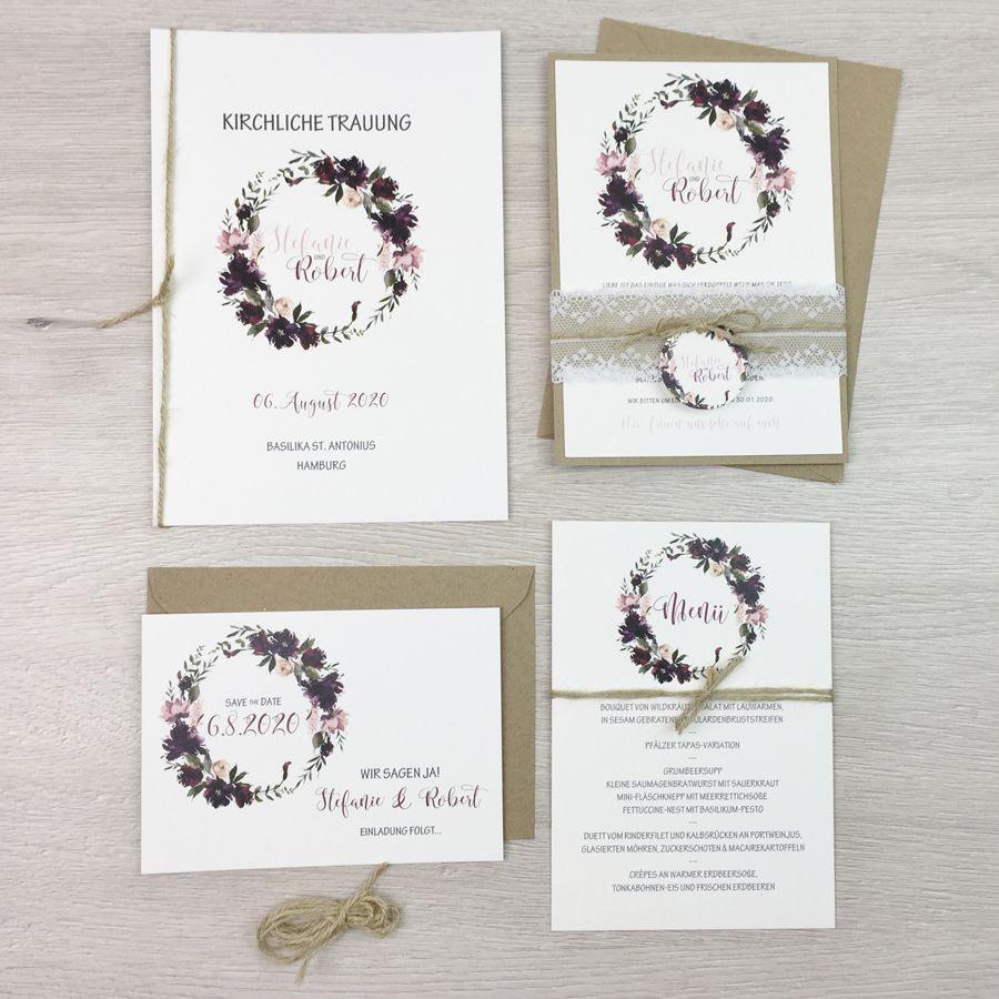 Hochzeit Einladung Vintage  Hochzeitseinladung