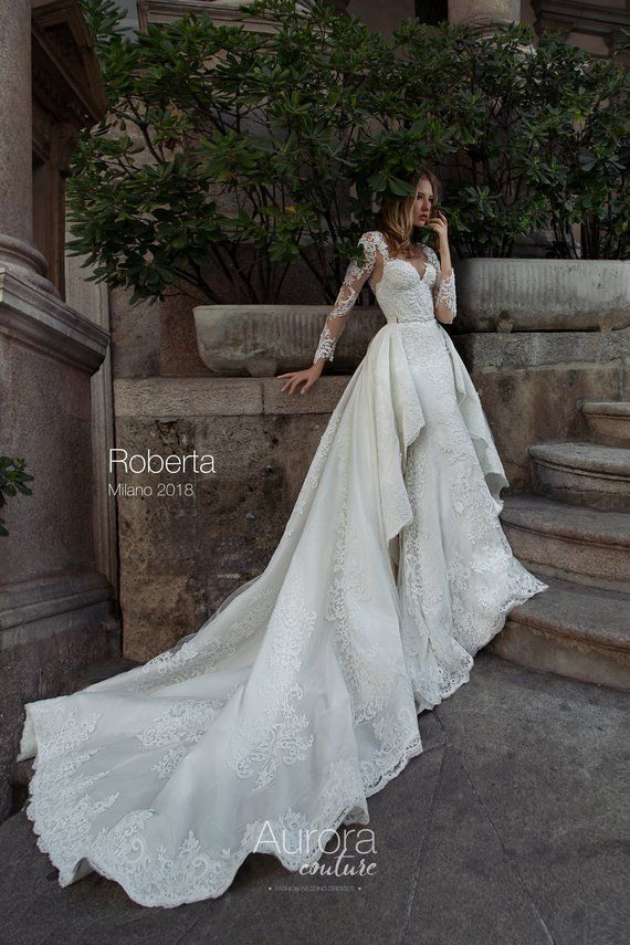 Hochzeit Kleid Roberta Brautkleider Lange Ärmel Brautkleid