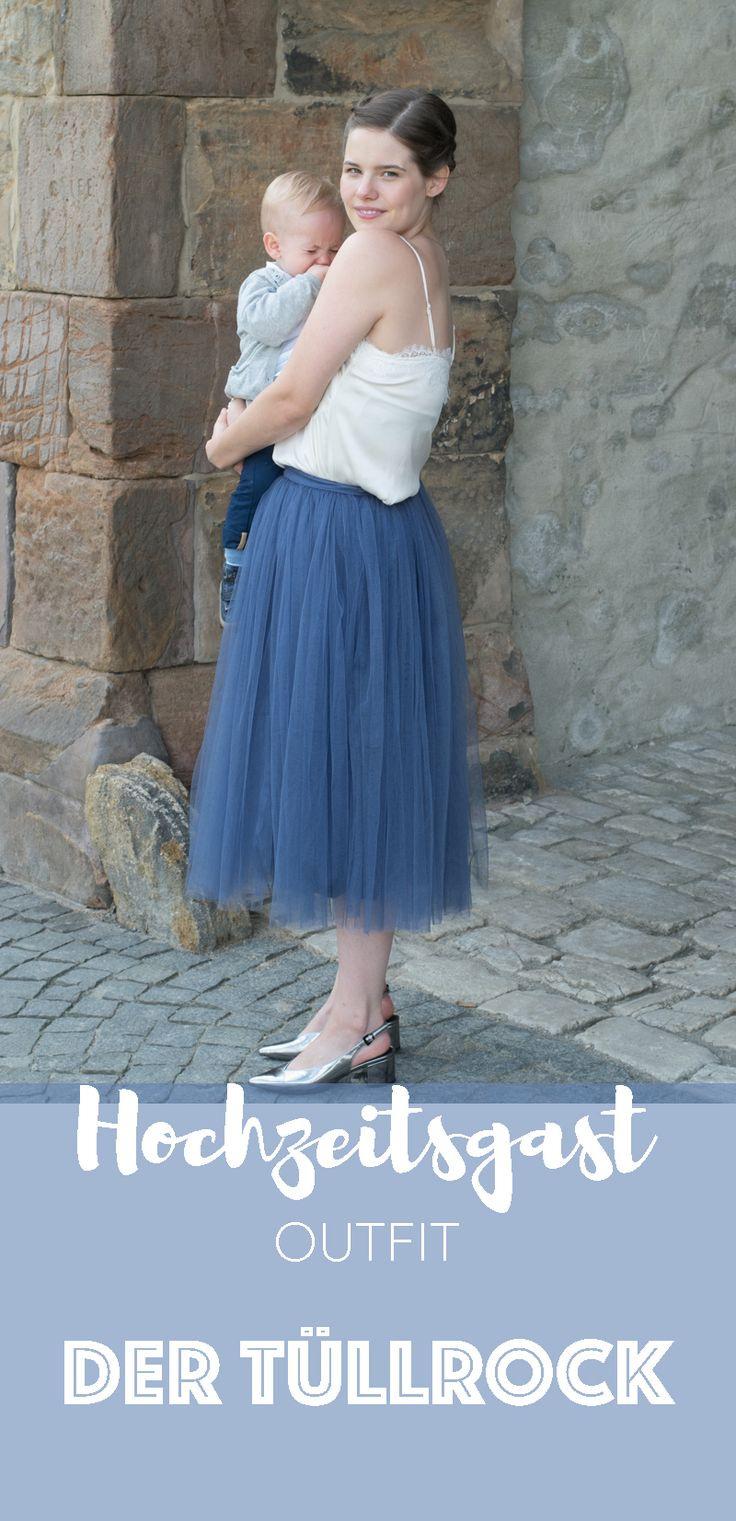 Hochzeitsgast Outfit Im Lila Tüllrock Und Maxikleid Von