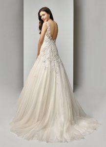 Hochzeitskleid A Linie Spitze Blush