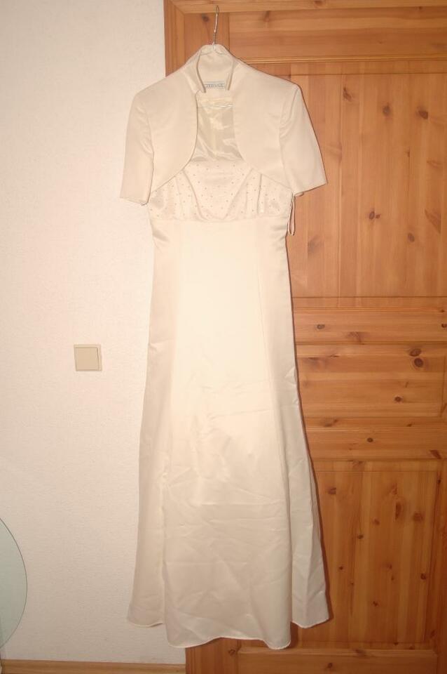 Hochzeitskleid / Abendkleid Mit Passenden Bolero Gr 38 In