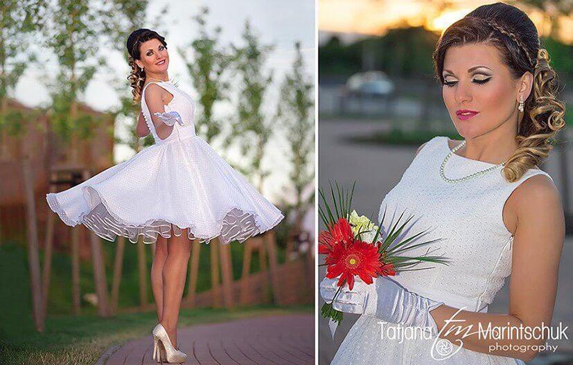 Hochzeitskleid Aus Chiffon Altweiß Oder Nach Wunsch