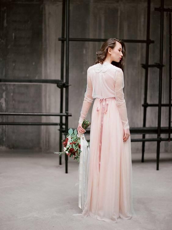 Hochzeitskleid Blush