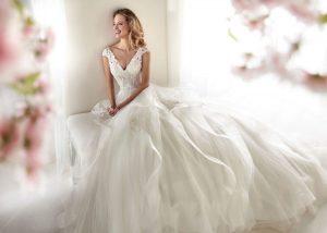 Hochzeitskleid Corsage Glitzer  Abendkleider  Elegante