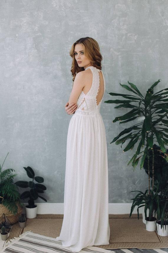 Hochzeitskleid D0103  Hochzeitskleid Boho Brautkleid