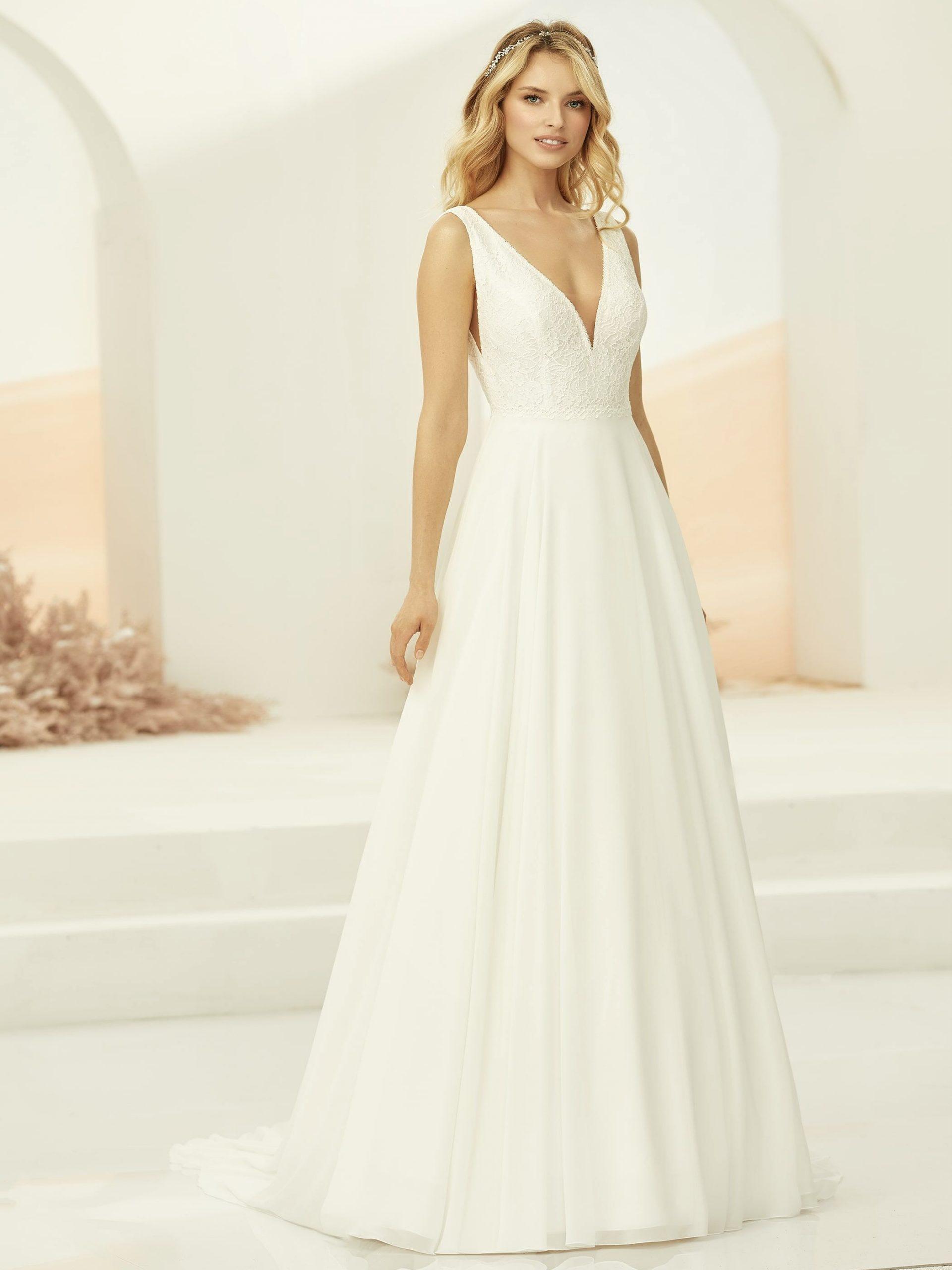Hochzeitskleid Elodia Elfenbeinfarben  Samyra Fashion