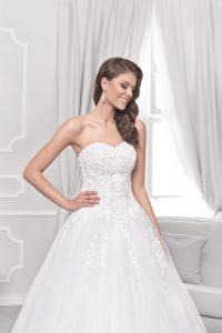 Hochzeitskleid Glitzer Spitze