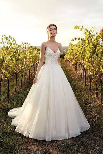 Hochzeitskleid Glitzer