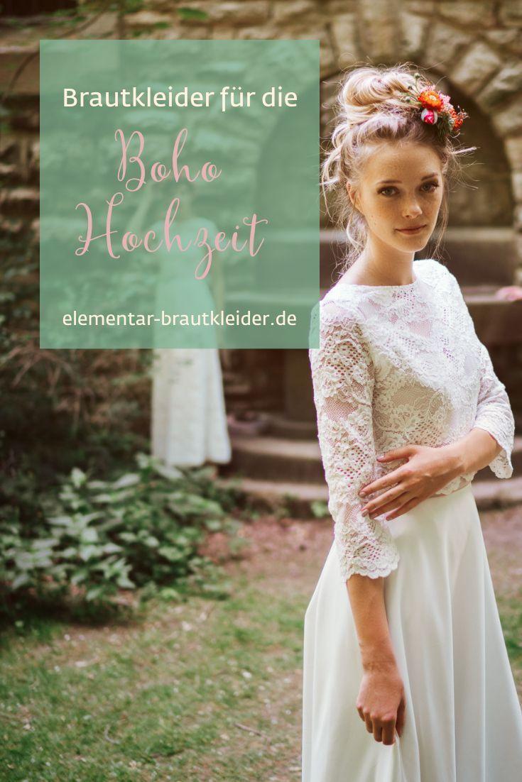 Hochzeitskleid Im Boho Stil  Elementar Brautmode Der