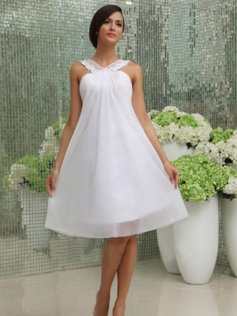 Hochzeitskleid Kurz Schlicht  Kleider Für Hochzeit