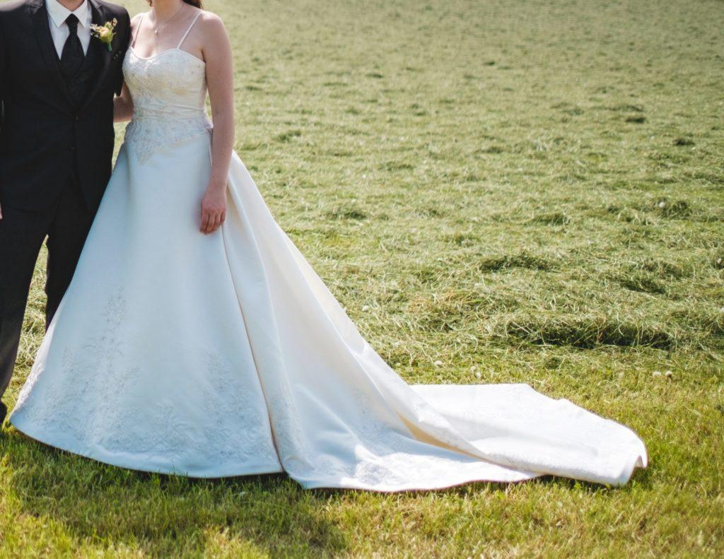 Hochzeitskleid Mit Abnehmbarer Schleppe  Brautkleid