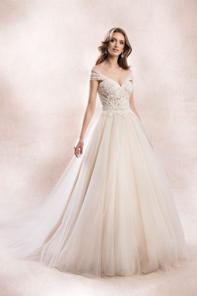 Hochzeitskleid Mit Schulterärmelchen  Samyra Fashion