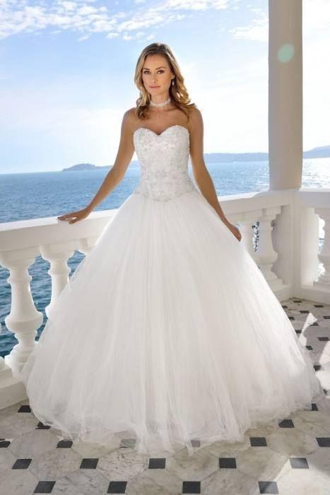 Hochzeitskleid Mit Tüll In 2020  Prinzessin Hochzeit